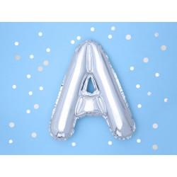 "Balon ""Litera A"" 35cm, srebrny"