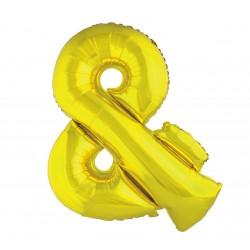 "Balon ""Litera &"" 89cm, złota"