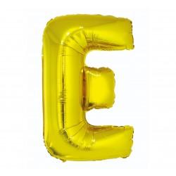 """Balon """"Litera E"""" 89cm, złota"""