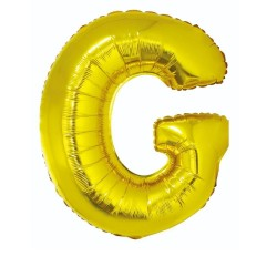 "Balon ""Litera G"" 89cm, złota"