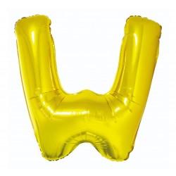 """Balon """"Litera W"""" 89cm, złota"""