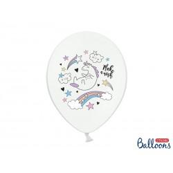 """Biały balon """"Jednorożec z..."""