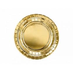 Talerzyki, złoty, 18cm