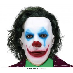 """Maska """"Mr. Smile"""" z włosami"""