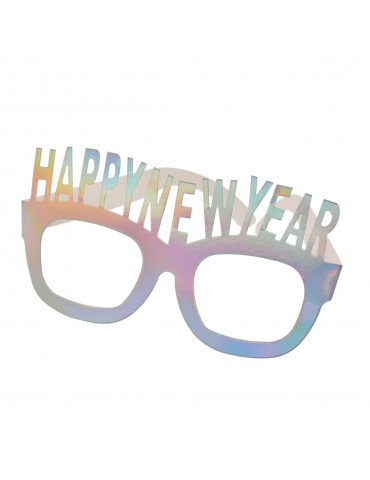 Papierowe okulary z napisem...