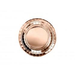 Talerzyki okrągłe - różowe złoto, 18cm