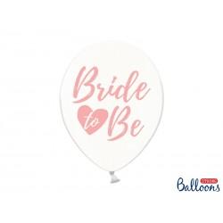 Przezroczysty balon z napisem Bride to Be - różowy