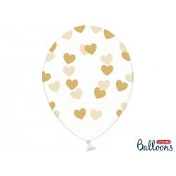 Przezroczysty balon w złote...