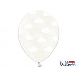 Przezroczysty balon w białe...