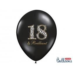 "Czarny balon ""18 & Brilliant"""