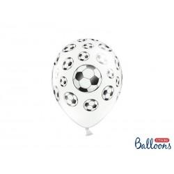 Biały balon w piłki nożne