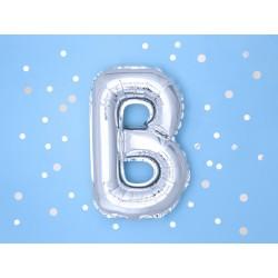 """Balon """"Litera B"""" 35cm, srebrny"""