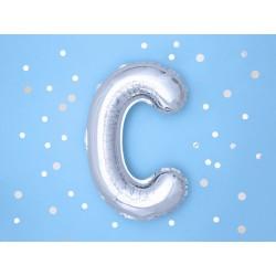 """Balon """"Litera C"""" 35cm, srebrny"""