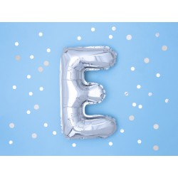 "Balon ""Litera E"" 35cm, srebrny"