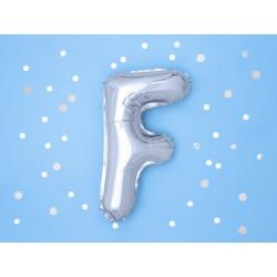 """Balon """"Litera F"""" 35cm, srebrny"""