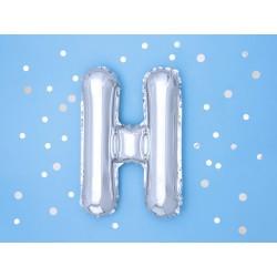 "Balon ""Litera H"" 35cm, srebrny"