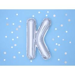 """Balon """"Litera K"""" 35cm, srebrny"""